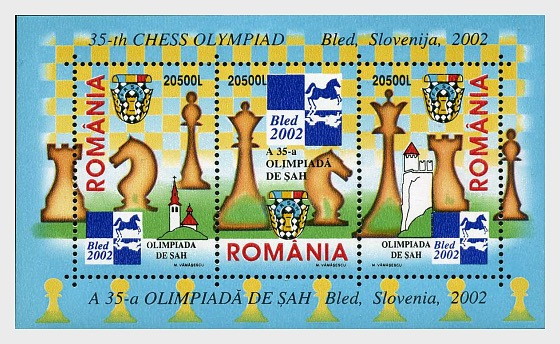 The 35th Chess Olympiad – Bled, Slovenia, 2002 - Miniature Sheet