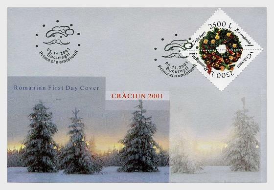 Weihnachten 2001 - Ersttagbriefe
