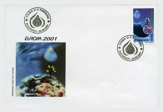 Europa 2001 - Ersttagbriefe