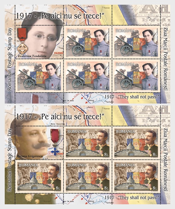 Romanian Postage Stamp Day – 1917 – They shall not pass! - Sheetlets