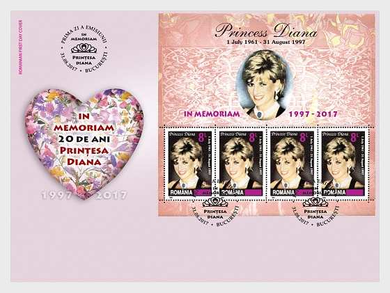 Princess Diana, In Memoriam, 20 years - First Day Cover