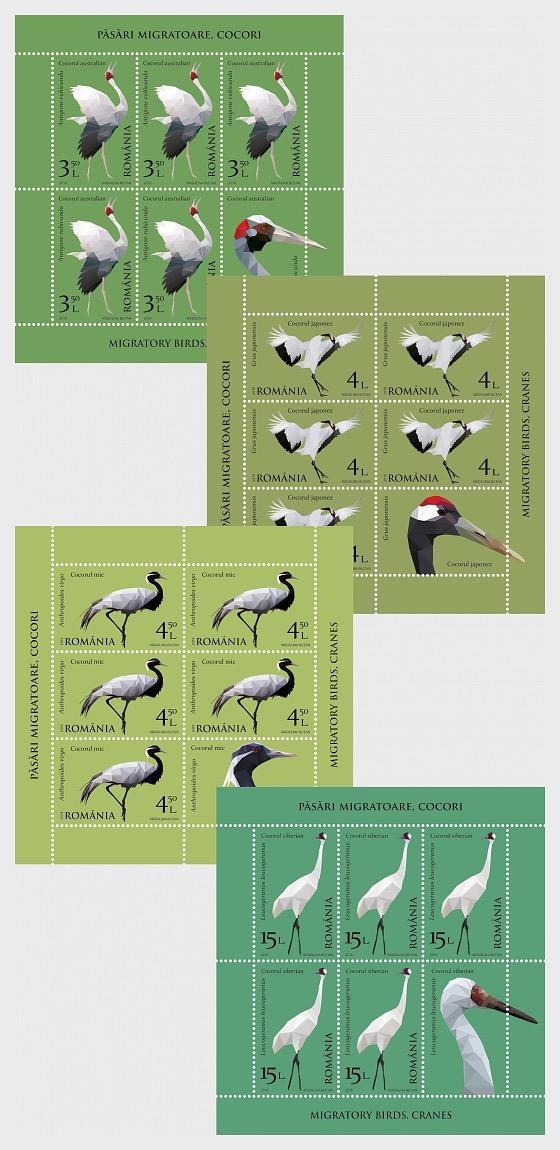 Migratory Birds - Cranes - Sheetlets