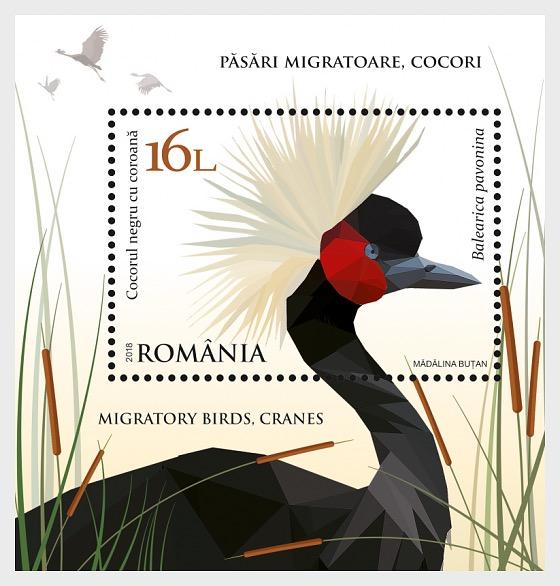 Aves Migratorias - Grullas - Hojas Bloque
