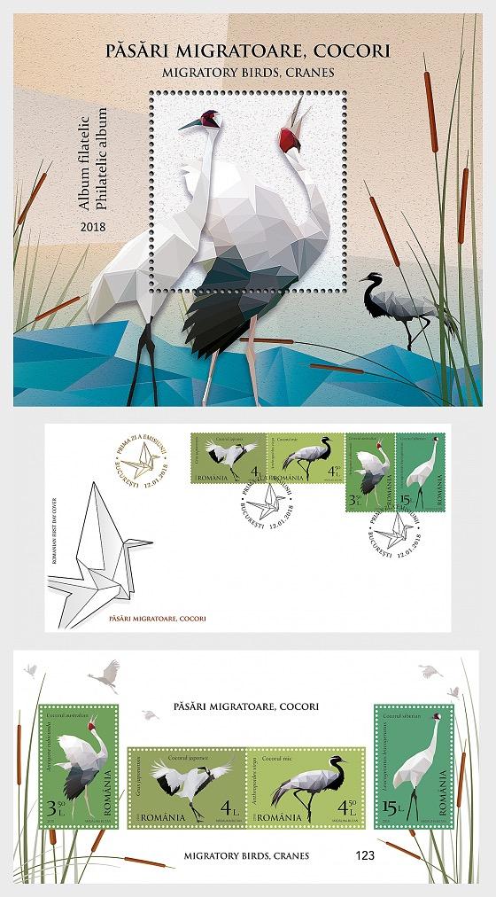 Migratory Birds - Cranes - (Philatelic Album) - Collectibles