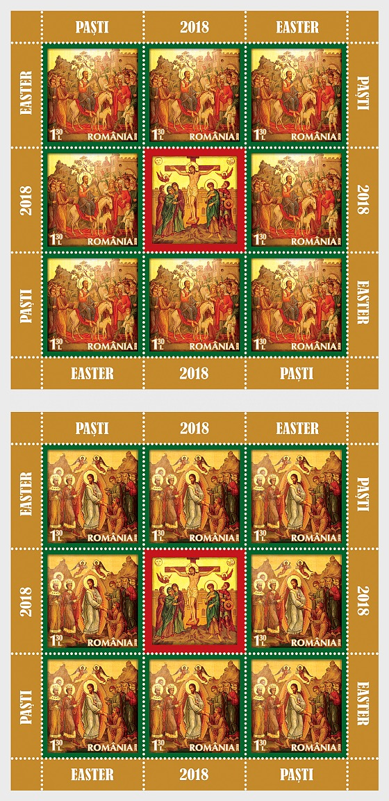 Holy Easter 2018 - (Sheetlet x 8 Stamps + 1 Label) - Sheetlets