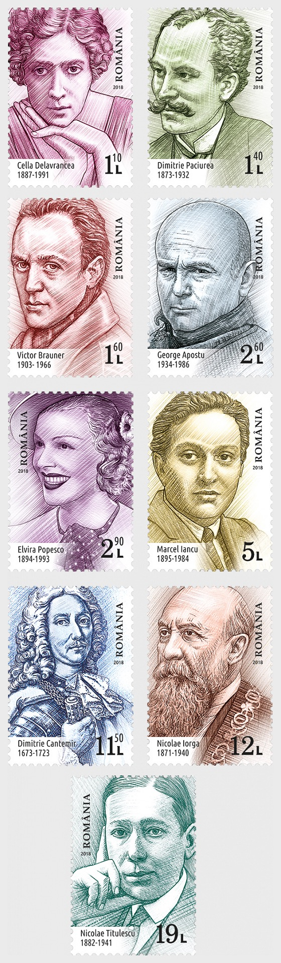 Famous Romanians II - Set