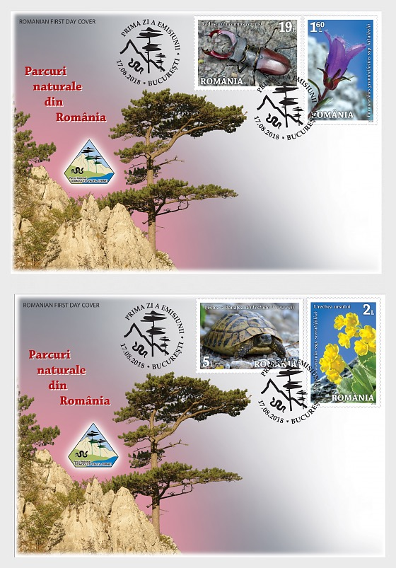 Natural Parks in Romania - First Day Cover