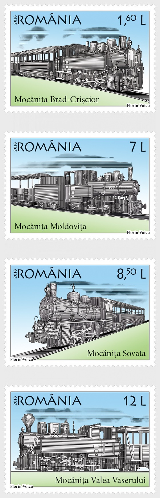 Locomotives, Steam Trains - Set