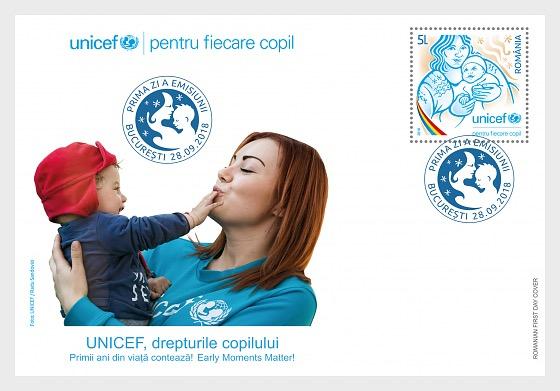 Unicef, Los Derechos del los Niños - Sobre de Primer Dia