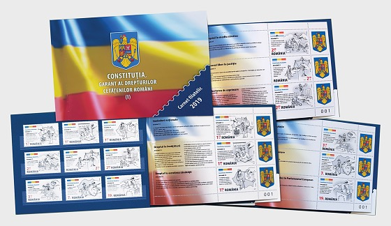 The Constitution of Romania, Guarantor of the Romanian Citizens Rights - Philatelic Booklet  - Collectibles