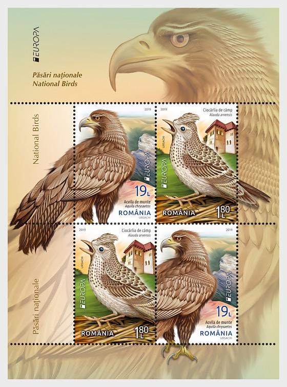 Europa 2019 - National Birds - Type II - Miniature Sheet