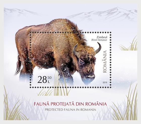 Protected Fauna in Romania - Miniature Sheet