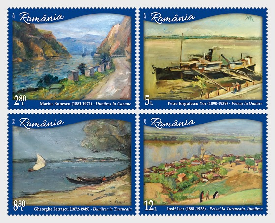 The International Danube Day - Danube in Romanian Painting - Set