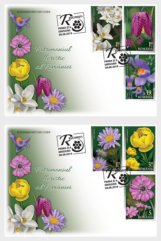 Floristic Patrimony of Romania - First Day Cover