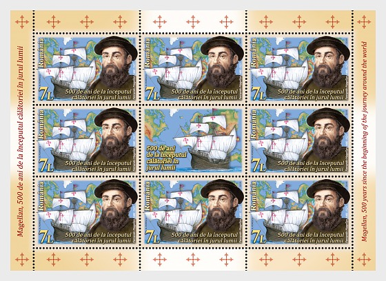 Magellan, 500 Years Since, The Beginning of the Journey around the World - Sheetlets