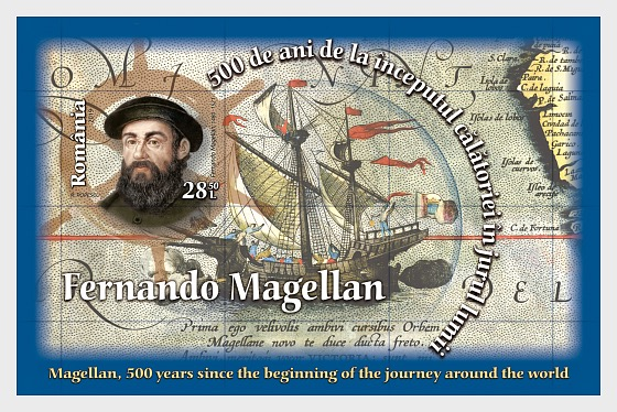 Magellan, 500 Years Since, The Beginning of the Journey around the World - Miniature Sheet