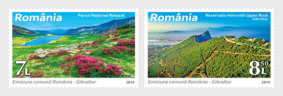 Joint Issue Romania - Gibraltar, Natural Reserves - Set
