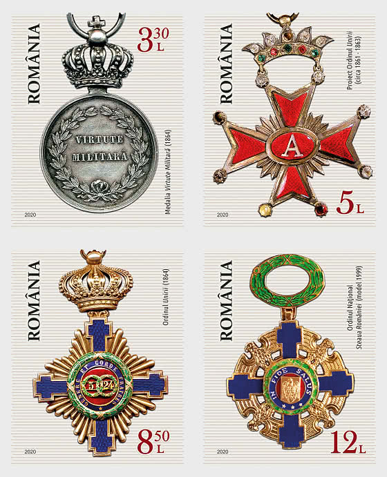 Romanian Orders and Medals - Set