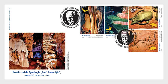 "Institute Of Speleology ""Emil Racovita""  A Century Of Research - First Day Cover"