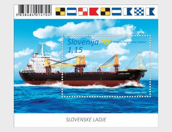 Slovene Ships - Ljubljana - Miniature Sheet
