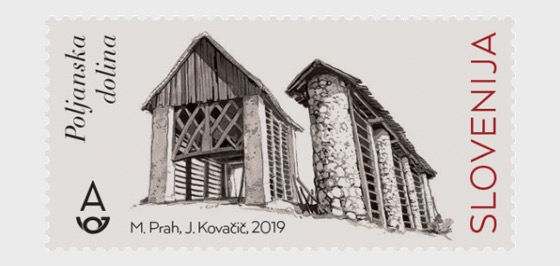 Hayracks of Slovenia - Poljanska Dolina Area  - Set