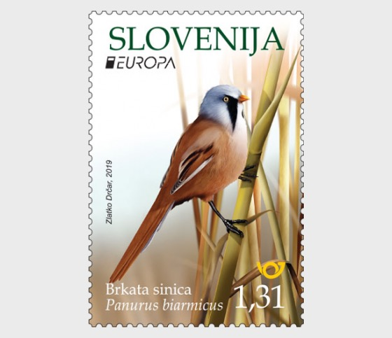 Europa 2019 - Birds - Bearded Reedling - Set