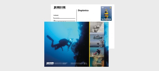 50 ° Anniversario della Stazione di Biologia Marina di Pirano - Cartolina