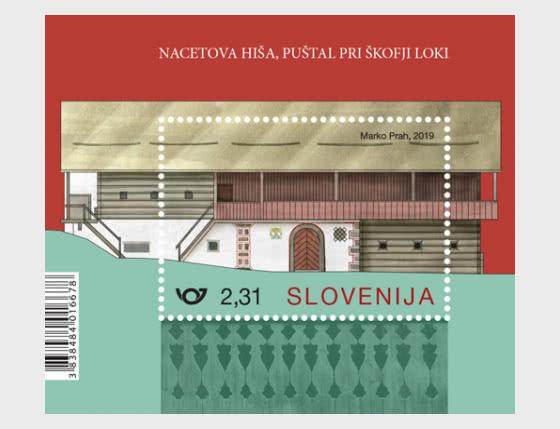 Rural Houses of Slovenia - Nace's House - Miniature Sheet