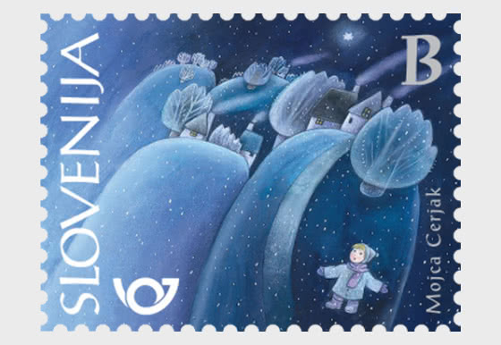 Christmas 2019 - Stamp B - Snowy Landscape - Set