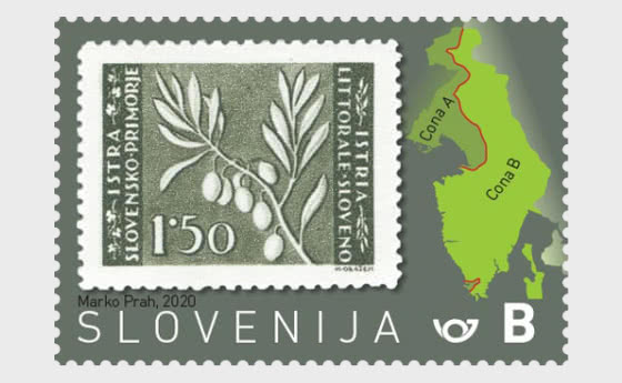 75e Anniversaire Des Premiers Timbres-poste Slovènes Pour Le Littoral Slovène Et L'istrie - B - Séries