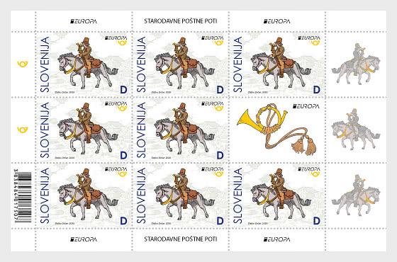 Europa 2020 – Postillion D  - Sheet of 8 Stamps + 1 Label - Sheetlets