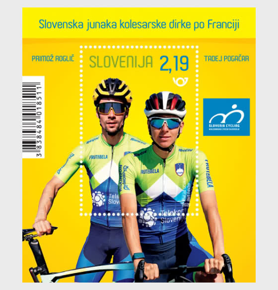 Slovenia's Tour de France Heroes - Miniature Sheet