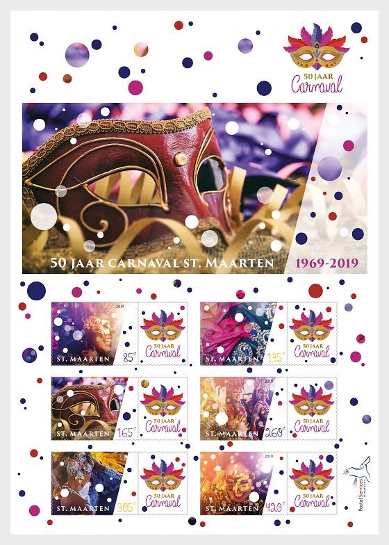 50 Years Carnival in St Maarten - Miniature Sheet