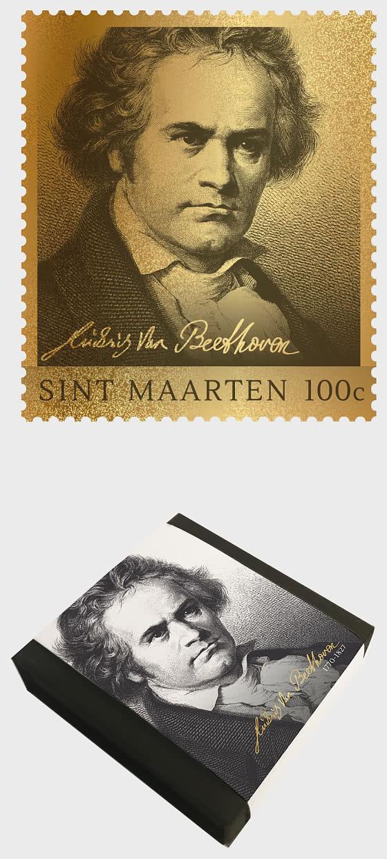 Golden Stamp -  Ludwig van Beethoven - Collectibles