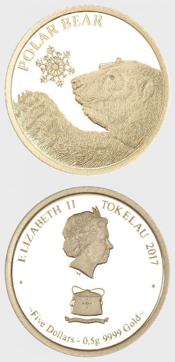 Polar Bear 0.5g Gold Snowflake Bear - Gold Coin