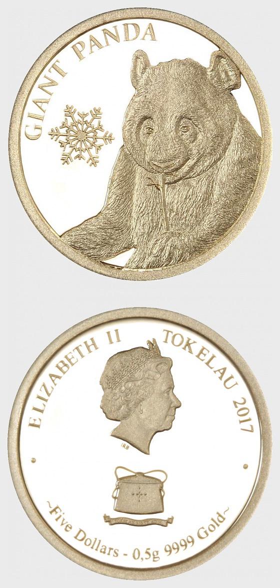 Riesenpanda 0,5g Gold Schneeflocke Bär - Goldmünze