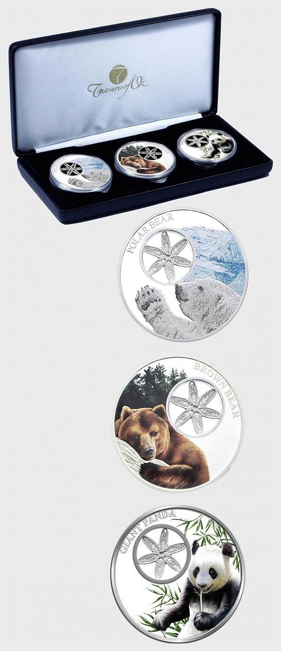 雪花熊三部曲硬币收集 - 银币