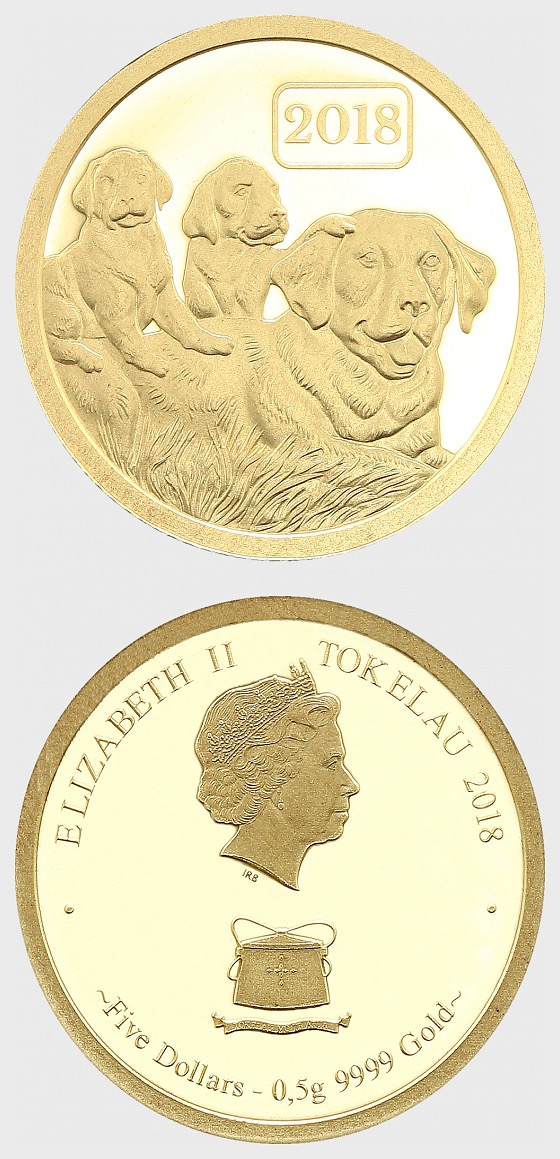 Year of the Dog 2018 -0.5g Pure Gold - Gold Coin