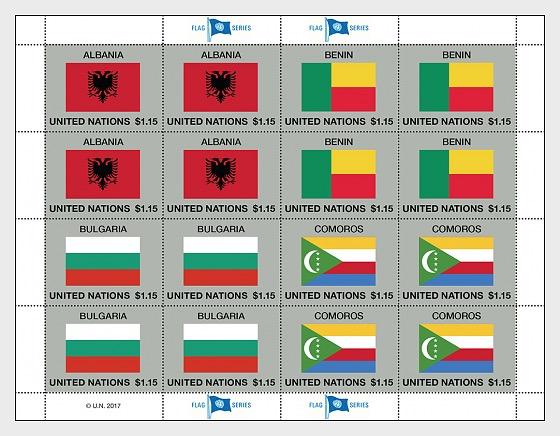 2017 Flag series (Sheet 52) - Sheetlets CTO