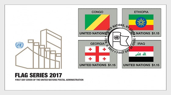 2017 Flag series (Sheet 53) - First Day Cover