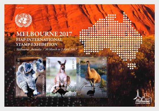 Melbourne 2017 FIAP International Stamp Exhibition- (M/S CTO) - Miniature Sheet CTO