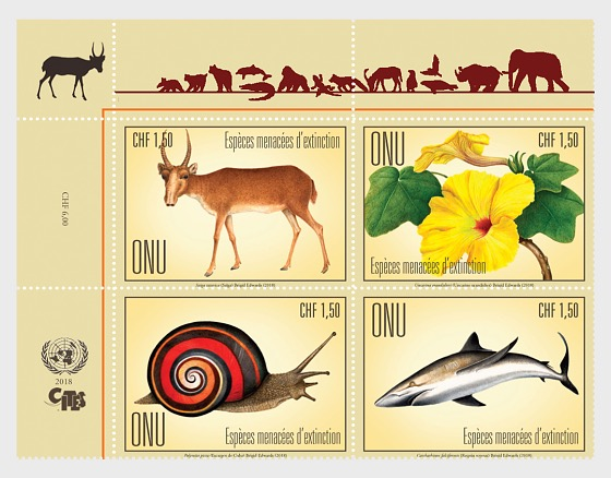 (Geneva) - 2018 Endangered Species - (Set Mint) - Set