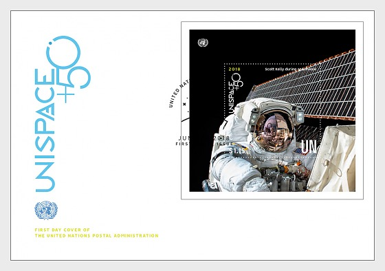 (New York) - UNISPACE+50 - (FDC M/S) - Collectibles