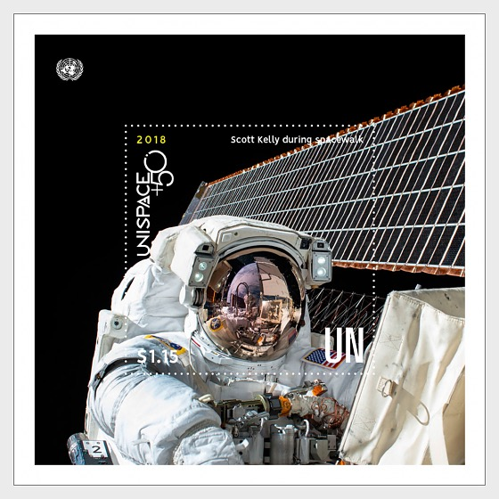 (New York) - UNISPACE+50 - (M/S CTO) - Miniature Sheet CTO