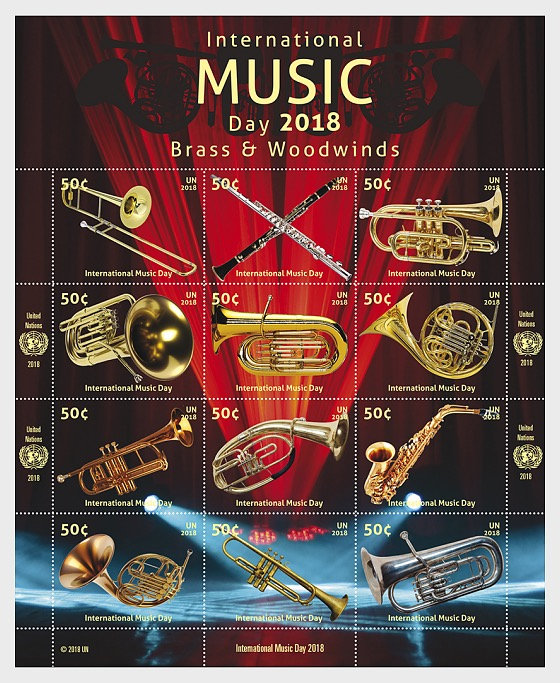 (New York) - International Music Day 2018 - (M/S Mint) - Miniature Sheet