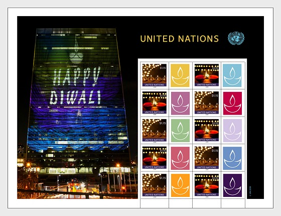 DIWALI — New York Personalized stamp Sheet - (Sheetlet Mint) - Sheetlets