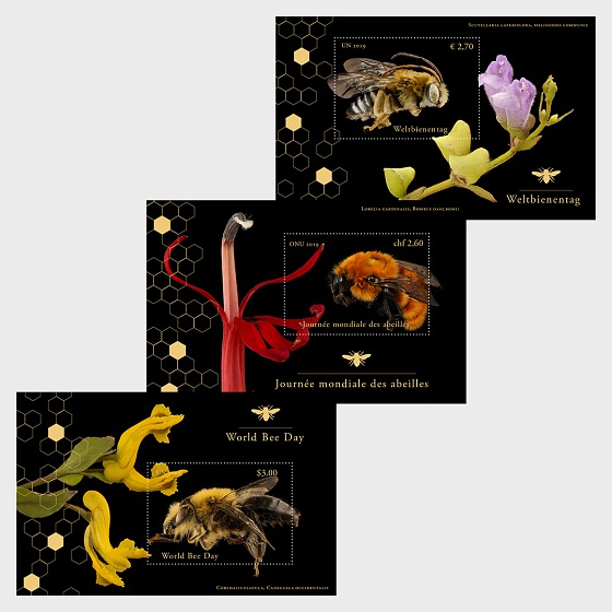 (3 Offices) - World Bee Day - M/S Mint - Miniature Sheet