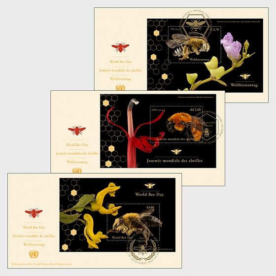 (3 Offices) - World Bee Day - First Day Cover