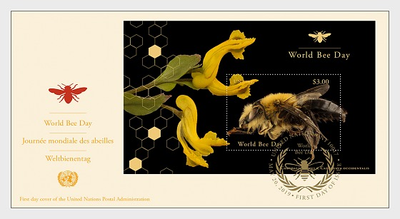 (New York) - World Bee Day - First Day Cover