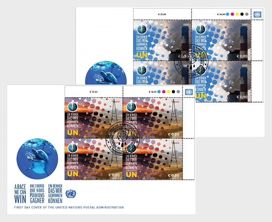 (Vienna) - Climate Change 2019 - FDC Block of 4 - First Day Cover block of 4